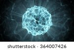 beautiful blue plasma ball.... | Shutterstock . vector #364007426