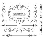 vintage flourishes  dividers... | Shutterstock .eps vector #364012886