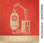industry design on red... | Shutterstock .eps vector #364020986