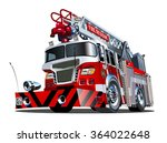 vector cartoon firetruck.... | Shutterstock .eps vector #364022648