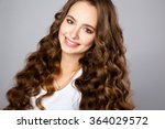 close up portrait of beautiful... | Shutterstock . vector #364029572