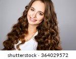 close up portrait of beautiful... | Shutterstock . vector #364029572