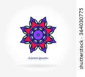 flower logo. the circular logo. ... | Shutterstock .eps vector #364030775