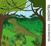 dinosaur concept design  | Shutterstock .eps vector #364034786