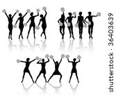 cheerleader girls group with... | Shutterstock .eps vector #36403639