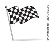waving flag with checkered... | Shutterstock .eps vector #364046198