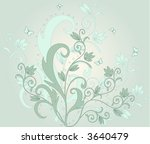 floral background   vector | Shutterstock .eps vector #3640479