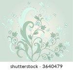 floral background   vector | Shutterstock .eps vector #3640479