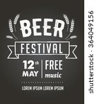 beer festival  black board... | Shutterstock .eps vector #364049156