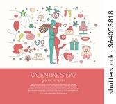 valentine's day graphic... | Shutterstock .eps vector #364053818