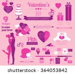 valentine's day infographic.... | Shutterstock .eps vector #364053842