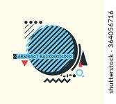 colored minimalistic... | Shutterstock .eps vector #364056716
