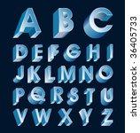 vector alphabet in metallic...   Shutterstock .eps vector #36405733