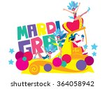 mardi gras holiday concept... | Shutterstock .eps vector #364058942