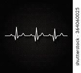 illustration heart rhythm ekg . | Shutterstock . vector #364060025