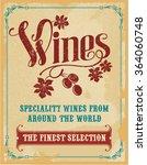 wine hand lettering vintage... | Shutterstock .eps vector #364060748