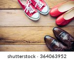 placed on a wooden shoe styles  ... | Shutterstock . vector #364063952