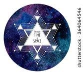 sci fi  cosmic round... | Shutterstock .eps vector #364064546