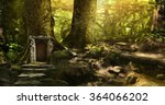 great mysterious forest on a... | Shutterstock . vector #364066202