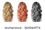 set  of long wigs hair isolated ... | Shutterstock . vector #364066976