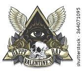 vector tattoo art on the theme... | Shutterstock .eps vector #364071095