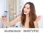 cheerful attractive young woman ... | Shutterstock . vector #364071932