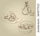 vector hand drawn food sketch...   Shutterstock .eps vector #364077515