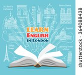 abroad language school.... | Shutterstock .eps vector #364088438