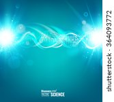 blue background with dna. | Shutterstock .eps vector #364093772
