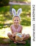 adorable little girl wearing... | Shutterstock . vector #364094642
