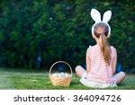 back view of a  little girl...   Shutterstock . vector #364094726
