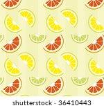 citrus seamless vector pattern | Shutterstock .eps vector #36410443