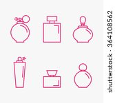 perfume isolated icons on... | Shutterstock .eps vector #364108562