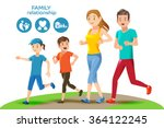 good relations in family. basic ... | Shutterstock .eps vector #364122245