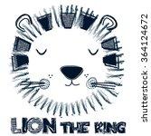 Stock vector lion the king t shirt design vector illustration 364124672