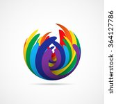 abstract rainbow flower. vector ... | Shutterstock .eps vector #364127786