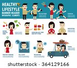 healthy lifestyle. infographic... | Shutterstock .eps vector #364129166