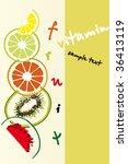 fruits background | Shutterstock .eps vector #36413119