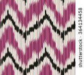 Seamless Ikat Pattern. Abstrac...