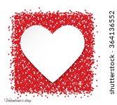 frame in heart shape on red... | Shutterstock .eps vector #364136552
