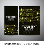 abstract yellow lights... | Shutterstock .eps vector #364144088