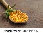 food supplement of fish oil... | Shutterstock . vector #364144742