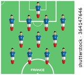 football soccer players...   Shutterstock . vector #364147646