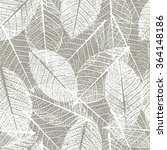 seamless pattern with leafs... | Shutterstock .eps vector #364148186