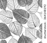 seamless pattern with leafs... | Shutterstock .eps vector #364148192