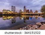 austin downtown at night and... | Shutterstock . vector #364151522