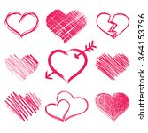 heart collection icon  love... | Shutterstock .eps vector #364153796