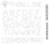 thin line alphabet  uppercase . ... | Shutterstock .eps vector #364154285