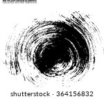 abstract circular black ink... | Shutterstock .eps vector #364156832