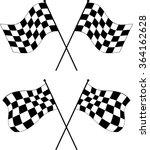 race flag various designs ... | Shutterstock .eps vector #364162628